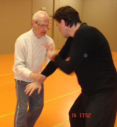 André et J.P.Blaise en poussée des mains